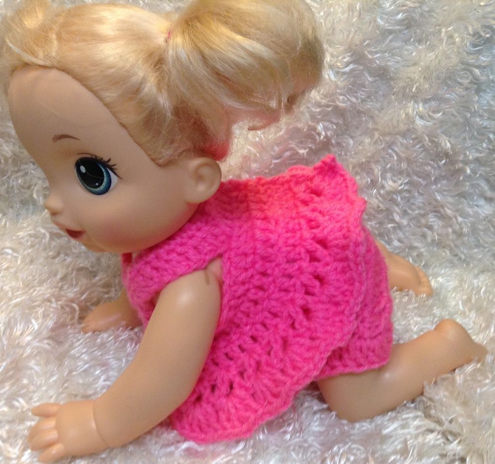 14 Inch Doll Clothes For Baby Alive Go Bye Bye Hot Pink 2 Piece Set Handmade Baby Doll Clothes Baby Alive Doll Clothes