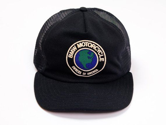 2f2d78a72105e BMW Motorcycles Hat - Vintage Motorcycle Hat - Vintage BMW Hat - BMW  Motorcyles Owners of America - Trucker Hat - Snap Back- Made in Usa