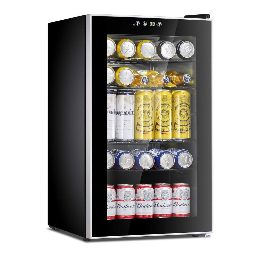Amazonsmile Antarctic Star Beverage Refrigerator Cooler 85 Can Mini Fridge Glass Door For Soda Beer Wine Clear Refrigerator Cooler Drink Dispenser Mini Fridge