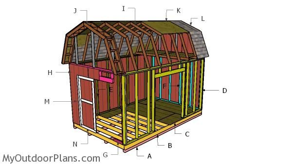 10 16 Barn Shed Roof With Loft Plans With Images Shed With Loft Diy Shed Plans Diy Shed