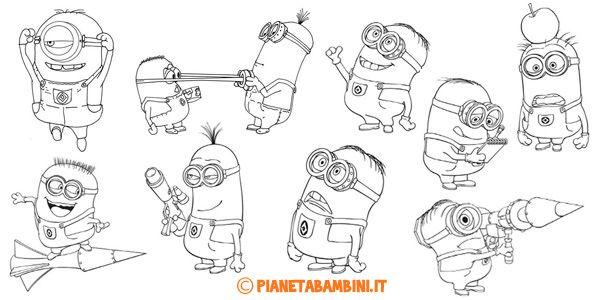 30 disegni dei minions da colorare disegni da colorare for Disegni da colorare minions