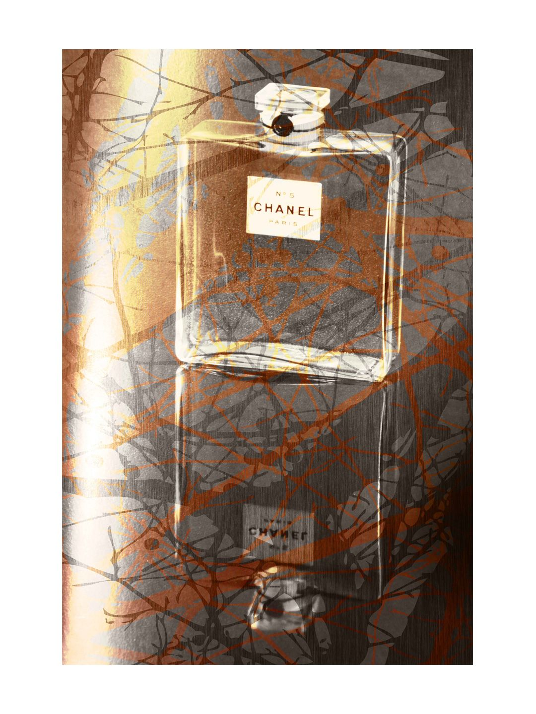 Woodsy Scent by Marmont Hill at Gilt www.marmonthill.com. Canvas artwork of Chanel perfume bottle
