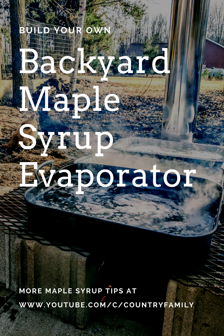Build your own Maple syrup evaporator from blocks to boil sap from your backyard  Maple trees - Build Your Own Maple Syrup Evaporator From Blocks To Boil Sap From