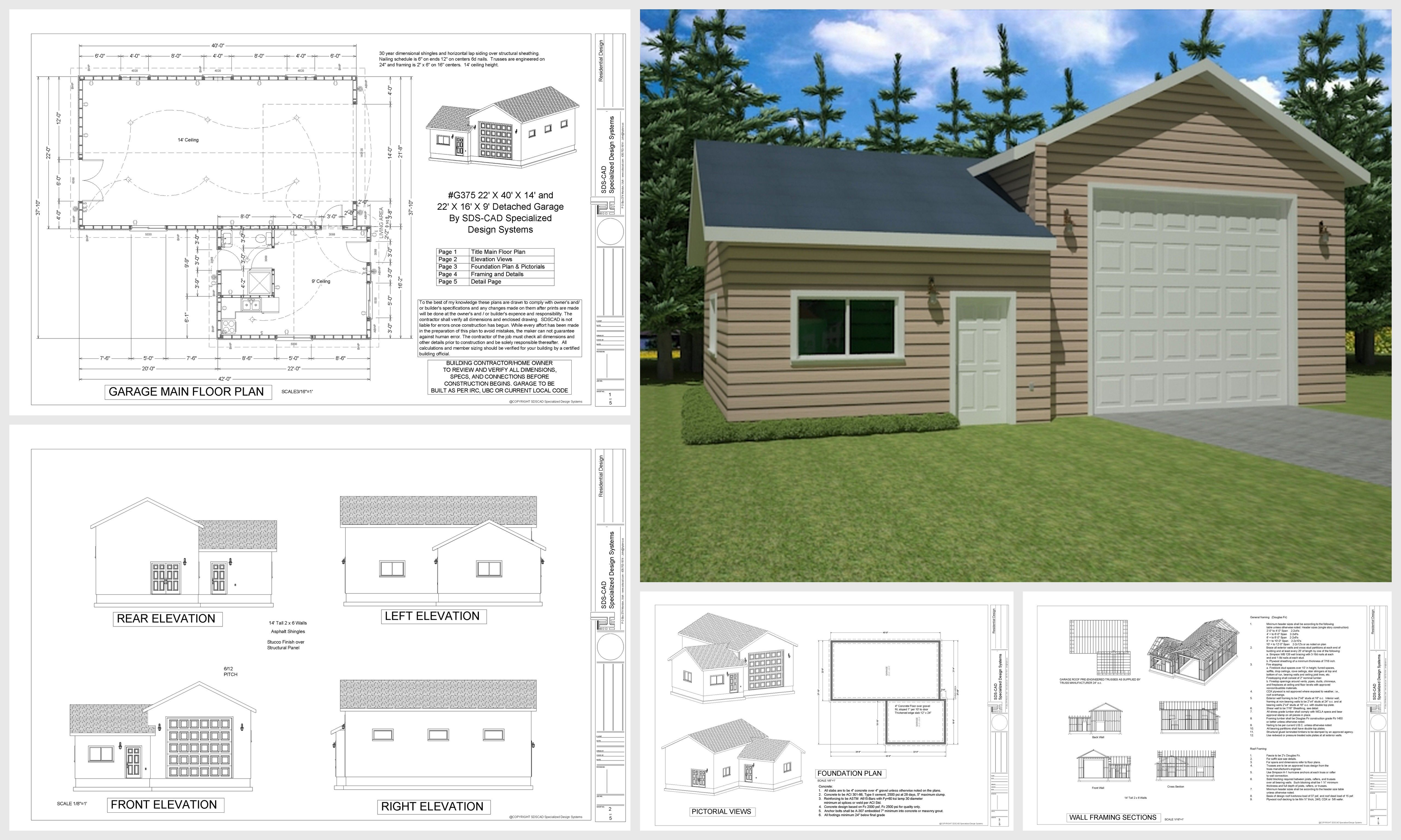 Cheap Garage Apartment Plans  New Garage Plan Catalog