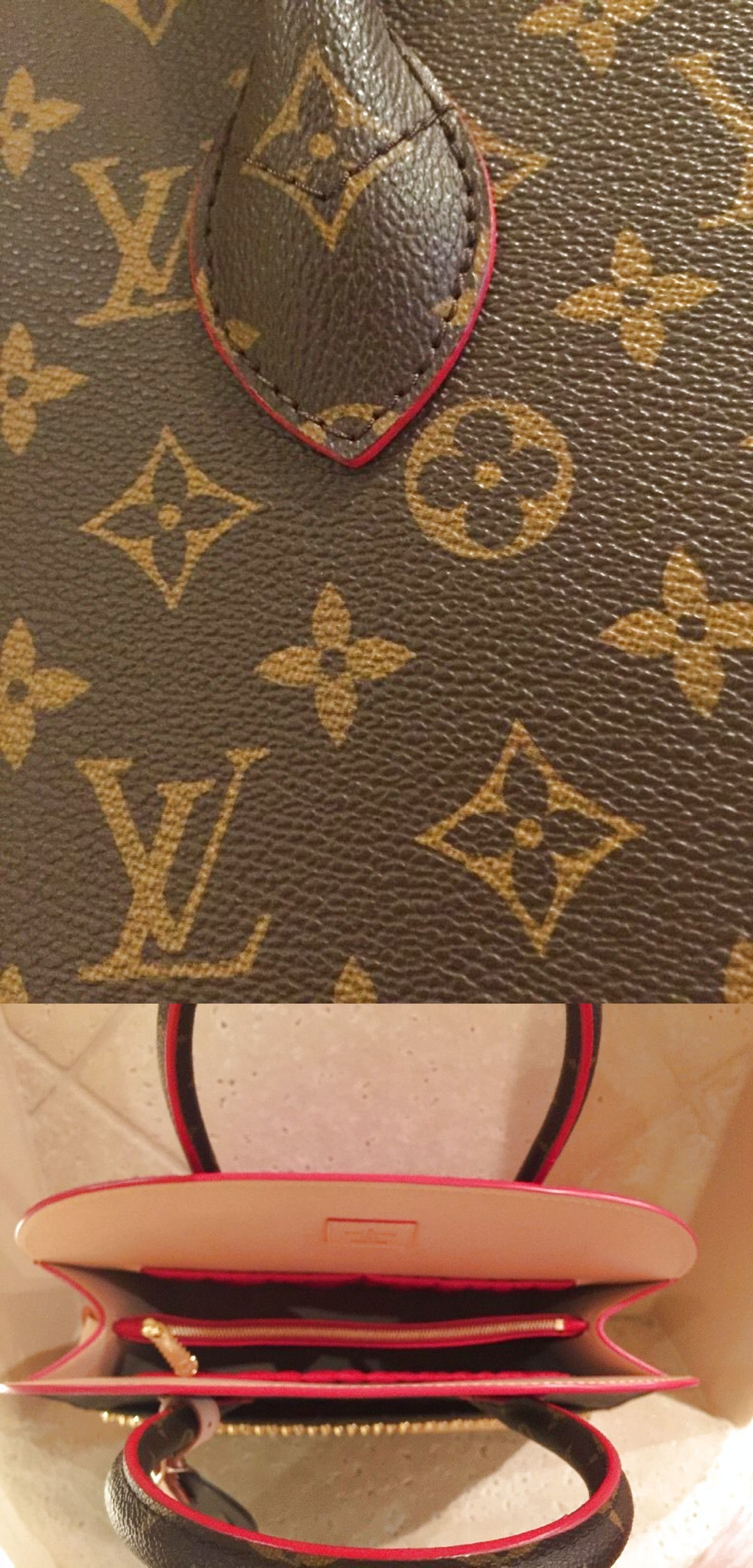 85eeb986be8 Louis Vuitton Christian Louboutin Brown LV Monogram Red Pony Hair ...