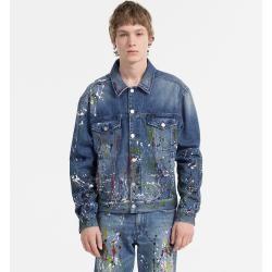 Outlet - Calvin Klein Denim-Jacke mit Farbspritzern Xl Calvin KleinCalvin Klein
