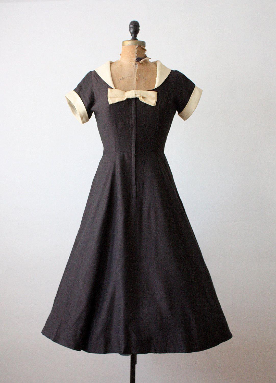 S dress vintage s black bow dress s party dress s