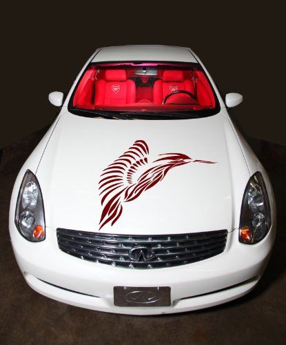 Auto Car Decals Beautiful Wings Hummingbird For Hood Decor - Unique car decals