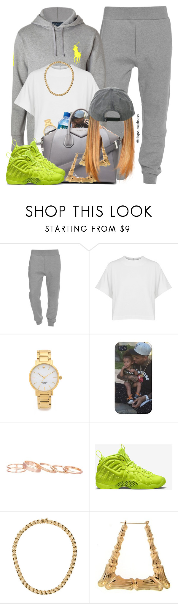 """""""Tyga   Show You"""" by dope-madness ❤ liked on Polyvore featuring Acne Studios, dVb Victoria Beckham, Kate Spade, Kendra Scott, Givenchy and NIKE"""
