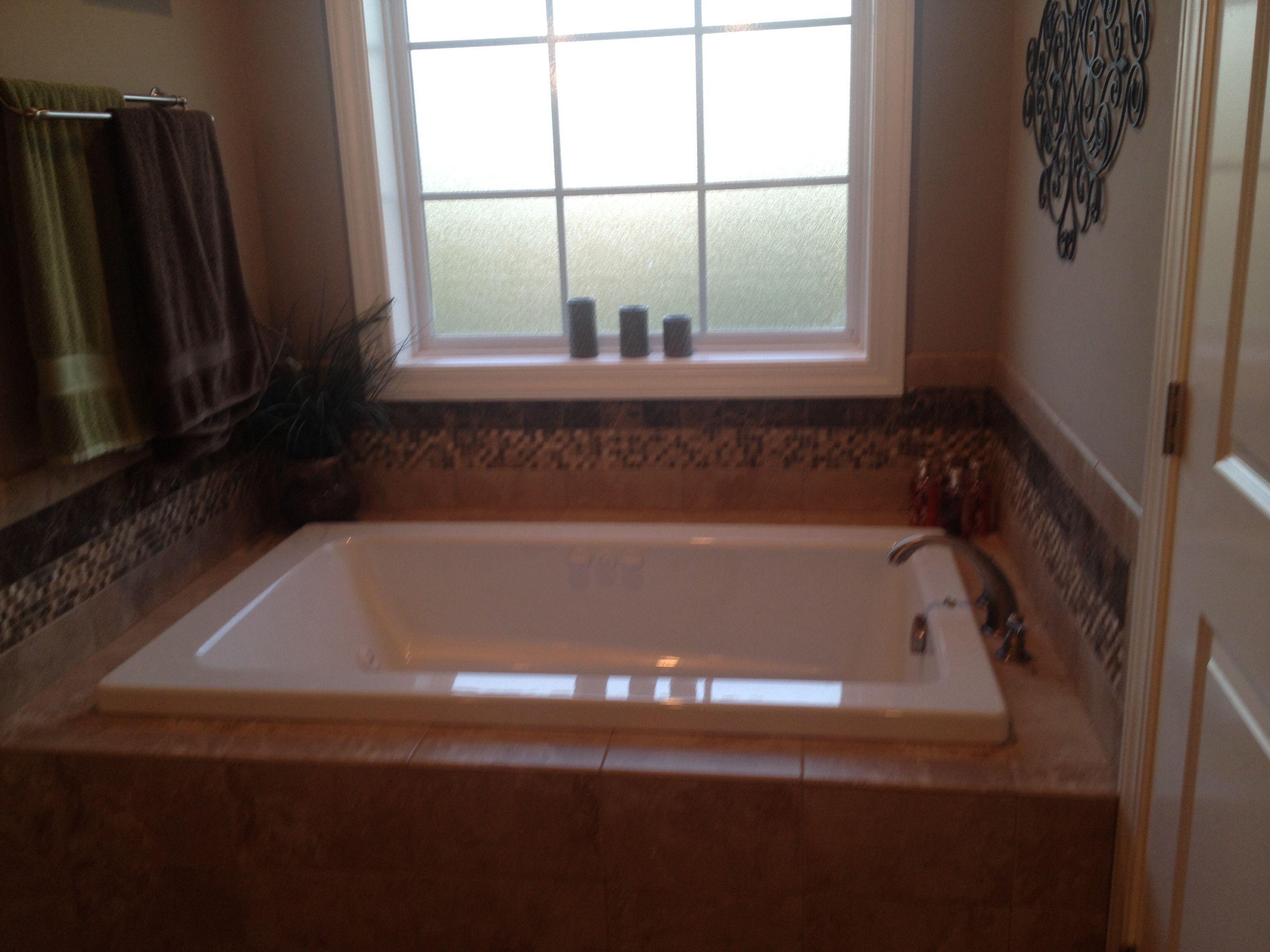 Master bathroom jacuzzi tub   Ideas For The Home   Pinterest