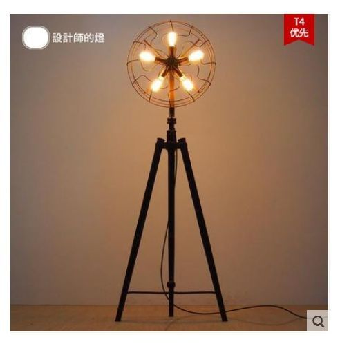 Cheap Fan Blade Buy Quality Lampe Uv 36 Watt Directly From China Fan Suppliers American Vintage Iron Fan L With Images Vintage Floor Lamp Floor Lamp Floor Lamp Design