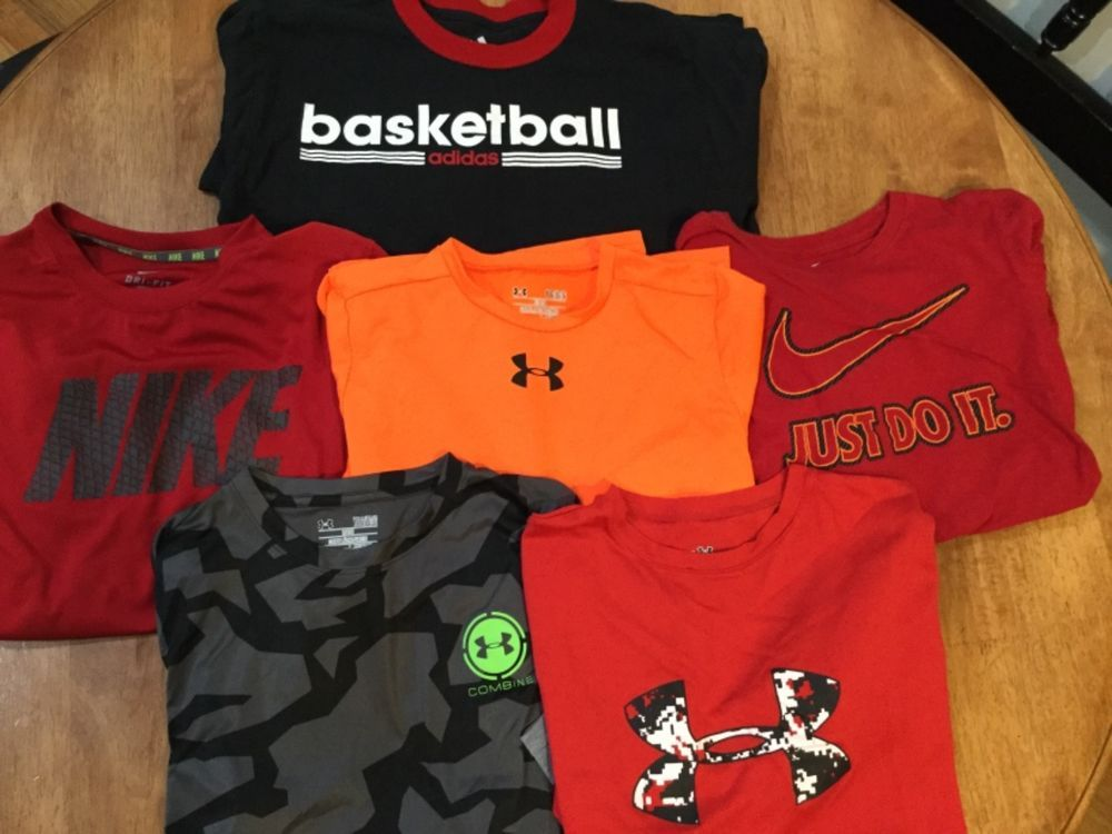 b570240cf093 Nike Under Armour Adidas Long Sleeve Boys Athletic Shirts Large Lot of 6    5.99 (0 Bids) End Date  Sunday Sep-16-2018 7 06 03 PDT Bid now