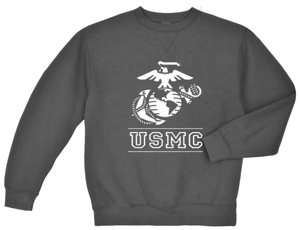 US Marines tshirt United States Marine Corps USMC shirt for men gray t-shirt