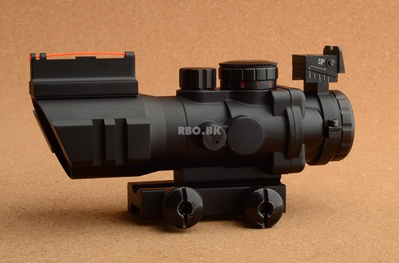 53.00$  Buy now - http://ali3tz.worldwells.pw/go.php?t=32398303508 - Tactical Trijicon acog style 4x32 rifle scope Optical fiber front & rear sight pictinny weaver rail hunting RBO M9392