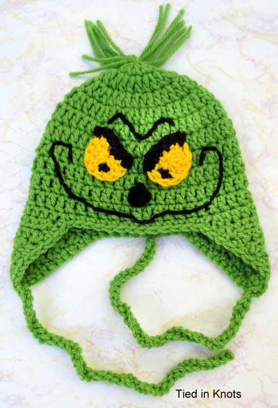 Crochet Grinch Hat for newborns, babies, children and adults ...