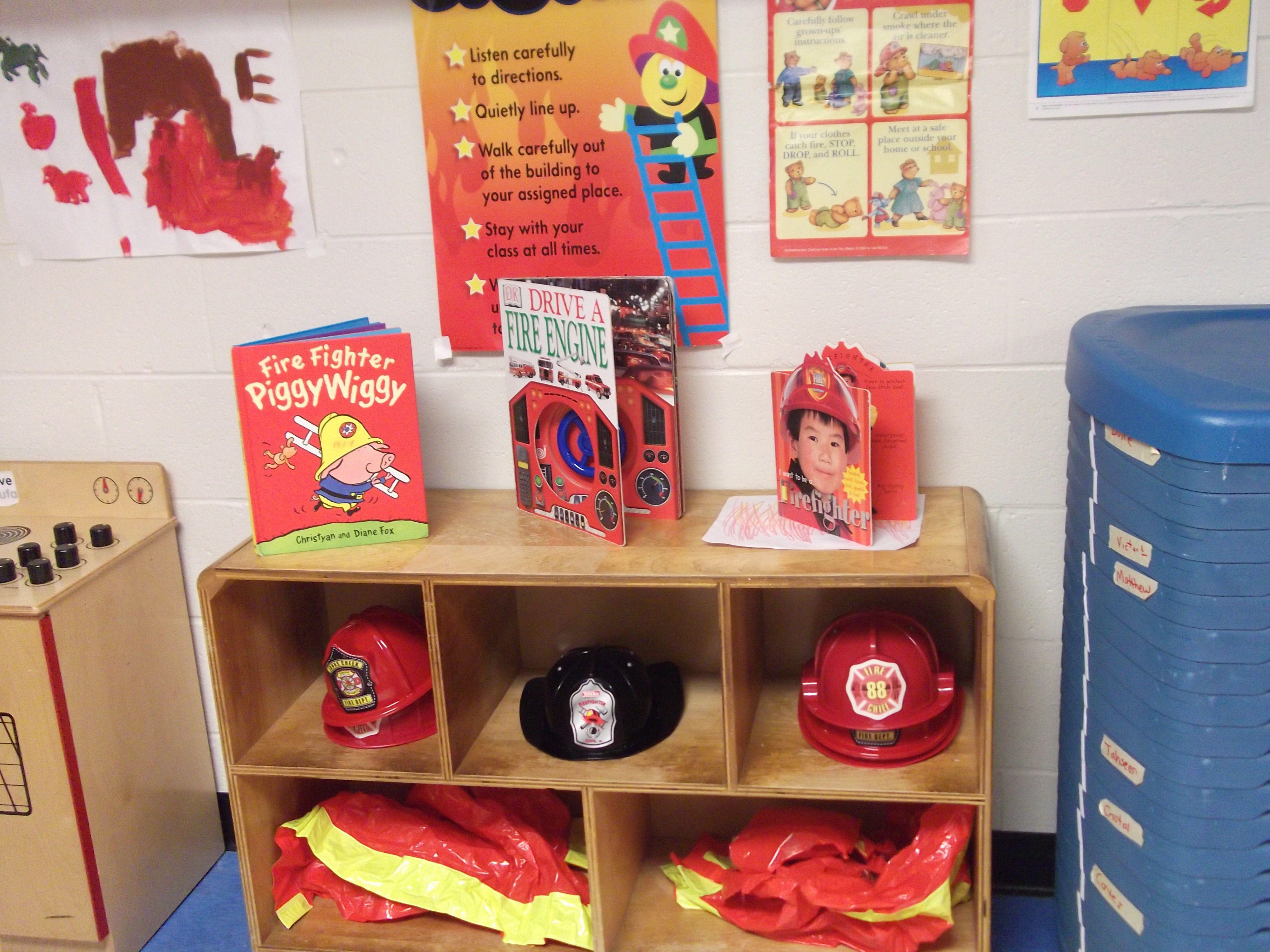 Fire Station Dramatic Play Prop Center Dramatic Play Preschool Dramatic Play Themes Fire Safety Preschool