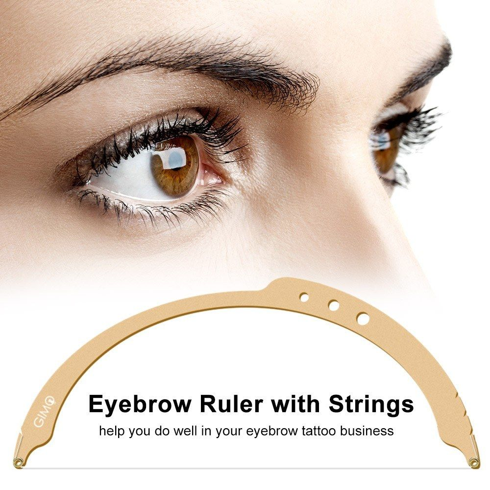 Eyebrow Ruler with Strings Permanent Bow Arrow Line Ruler