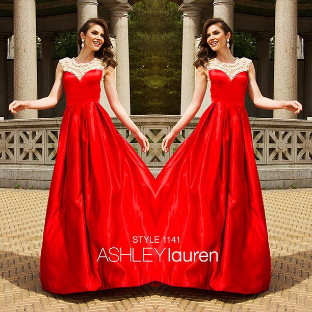Bella sera bridal occasion proudly carries ashleylauren gowns ashley lauren in show stopping red available at bella sera bridal occasion junglespirit Gallery
