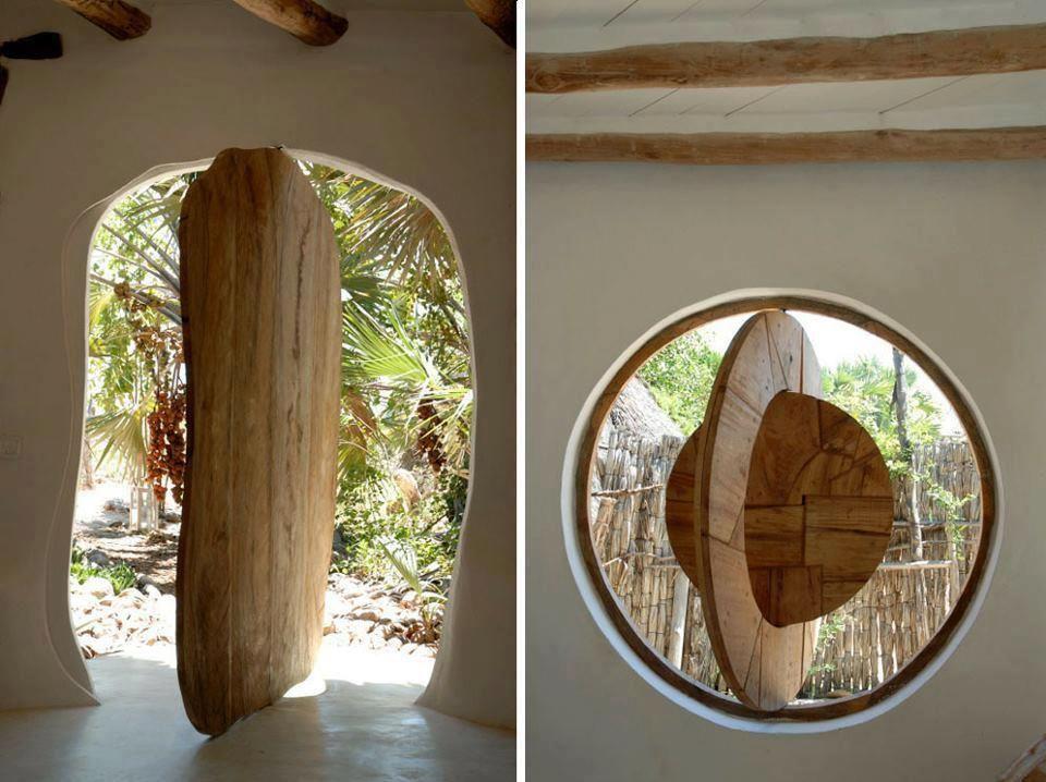 Center rotation door
