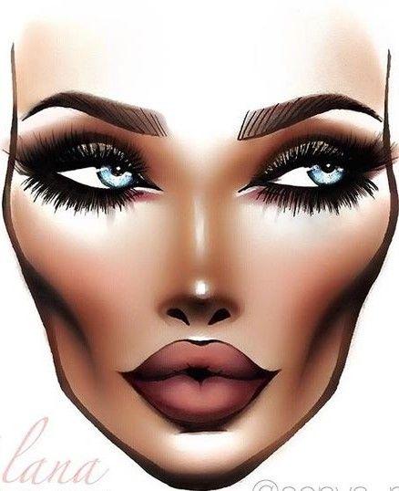 Makeup  Cosmetics  Facechart  Nuetral  Nuetralmakeup