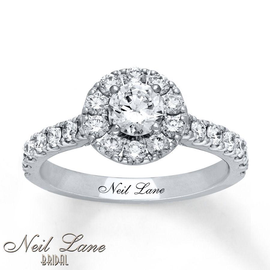Neil Lane Engagement Ring 1 1/4 ct tw Diamonds 14K White