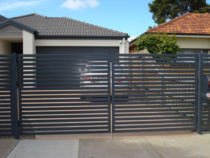 Dg12 Horizontal Steel Slats Double Gate Werribee My