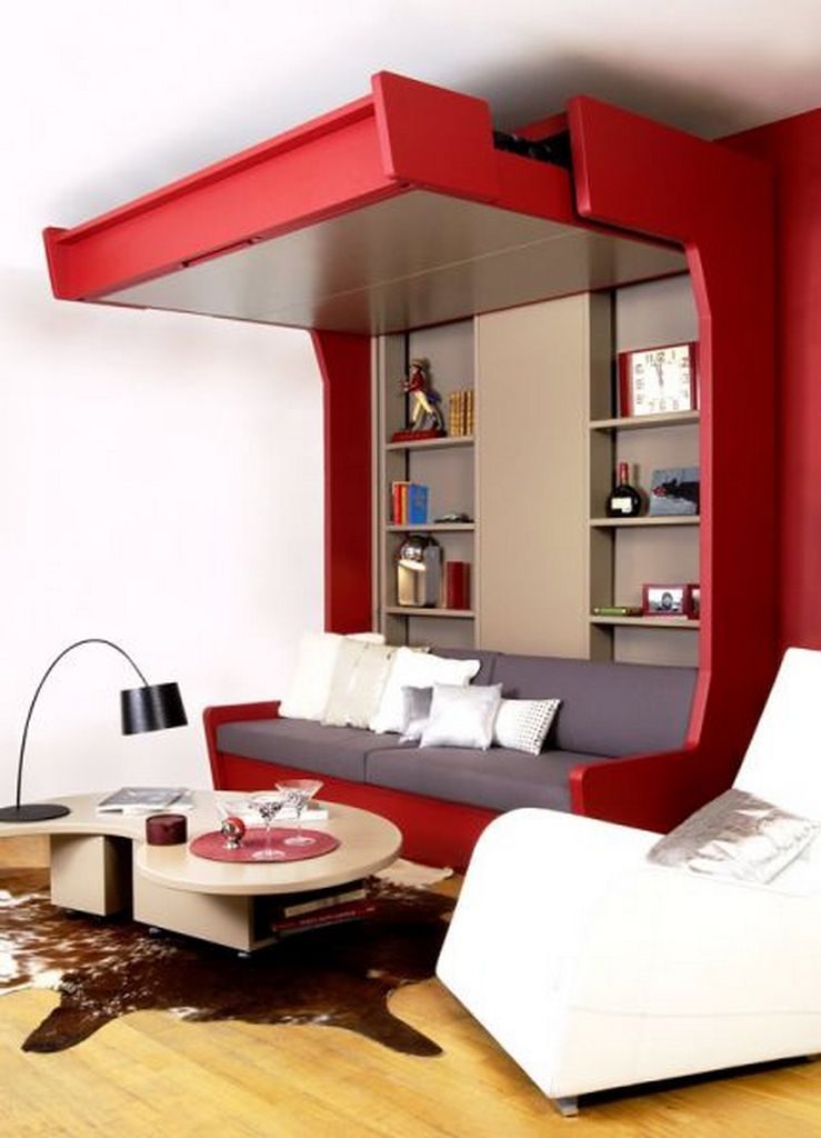 modern bedroom  small space  small space living room