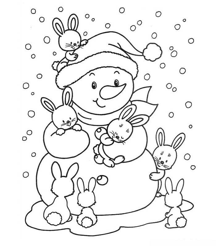 Kleurplaat sneeuwpop Garabatos Pinterest Winter, Embroidery - copy coloring pages for winter printable