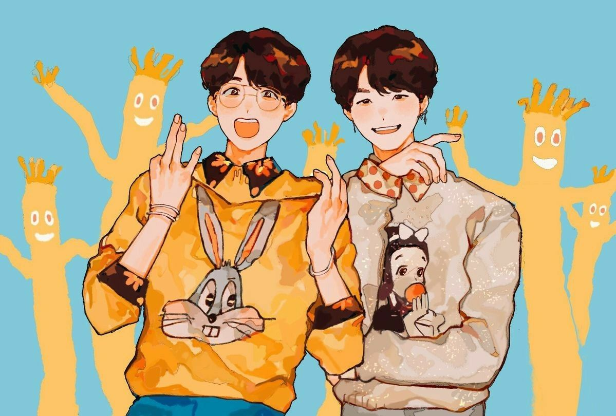 Cute Jhope Wallpaper Sope Cute Fanart Credits To Owner 169 Suga Jhope Sope