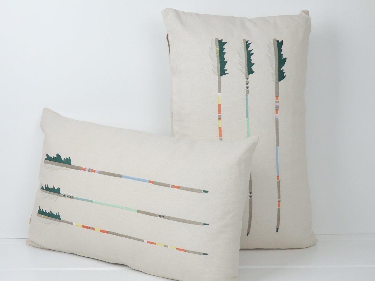 Arrow design cushions