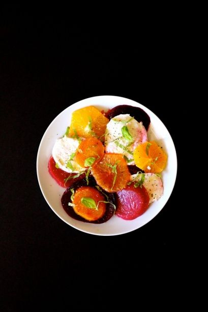 Roasted Beet Salad alla Caprese