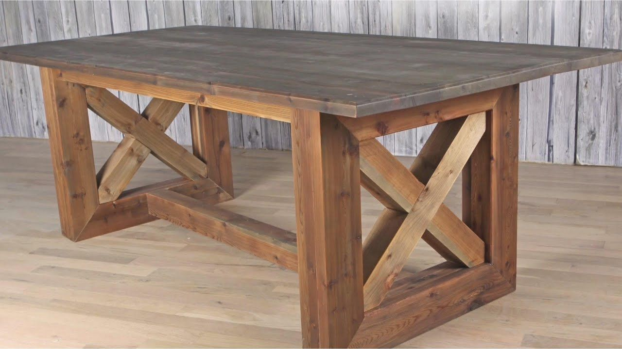 Ultimate DIY Rustic Farmhouse Table / Weathered and Aged ...