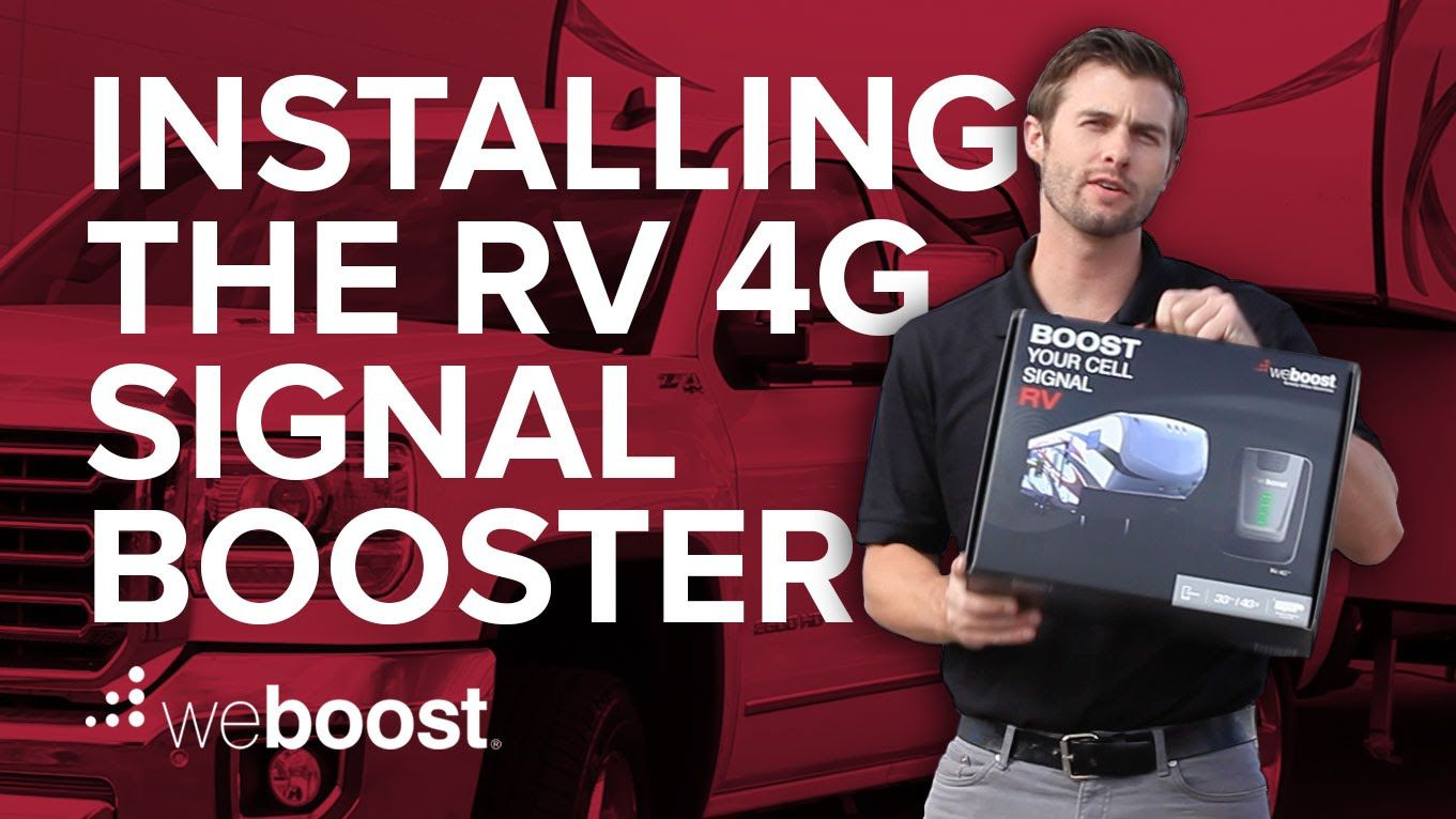 How To Install The Rv 4g Cell Phone Signal Booster Weboost Cell Phone Booster Cell Phone Signal Cell Phone Signal Booster
