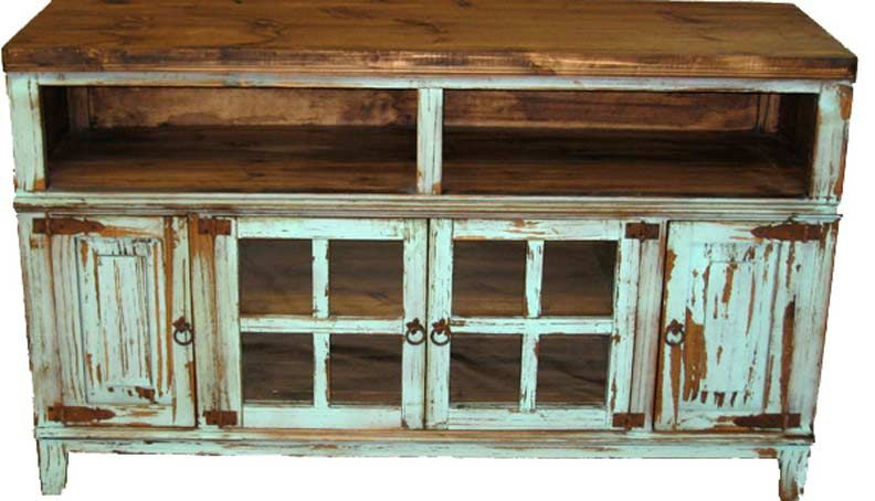 Antique TV Stand, Antique Turquoise TV Stand Entertainment Center, Antique  Tv Stands, Rustic