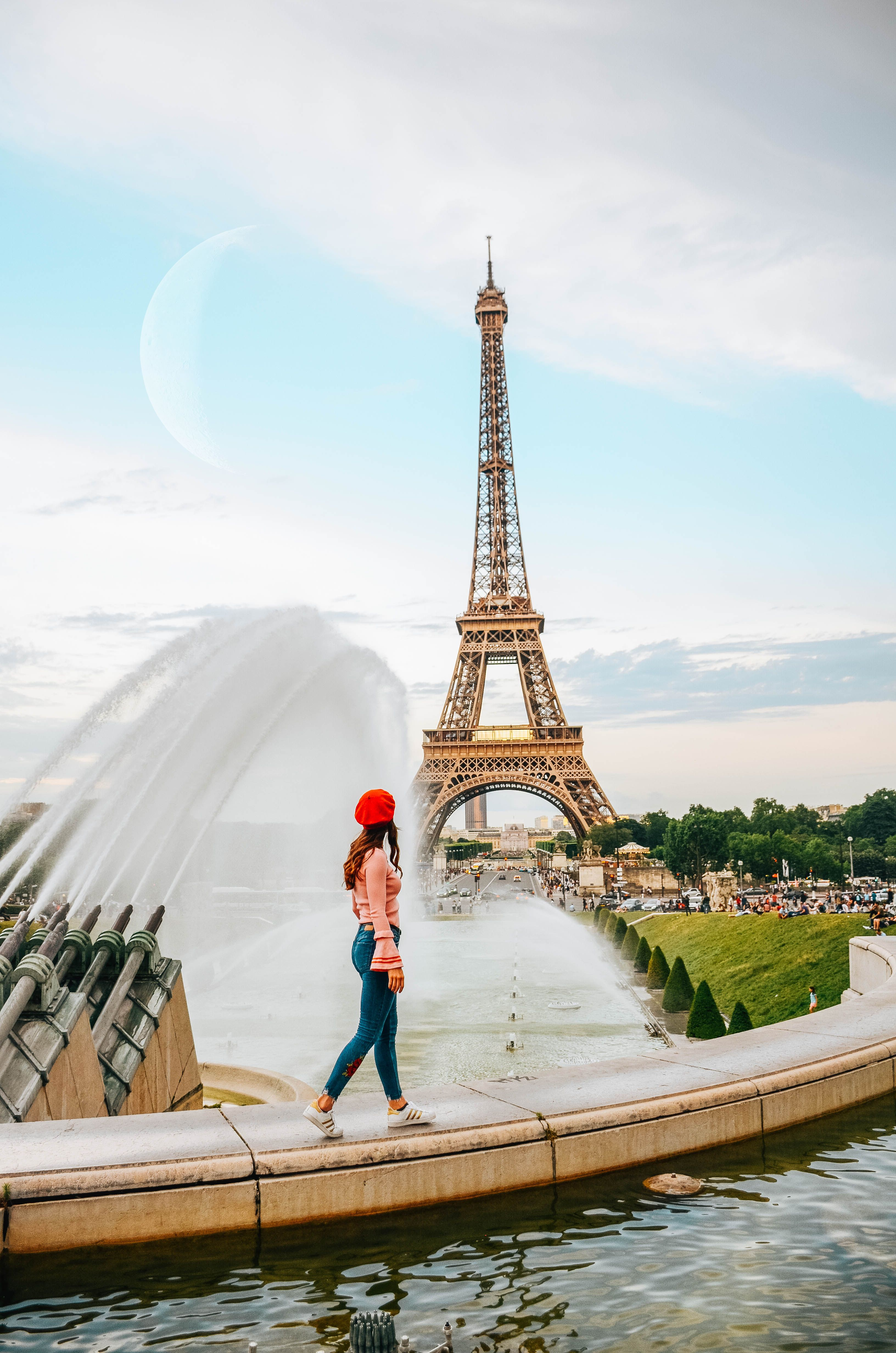Eiffel Tower in Paris, France. The best photo spots in Paris.