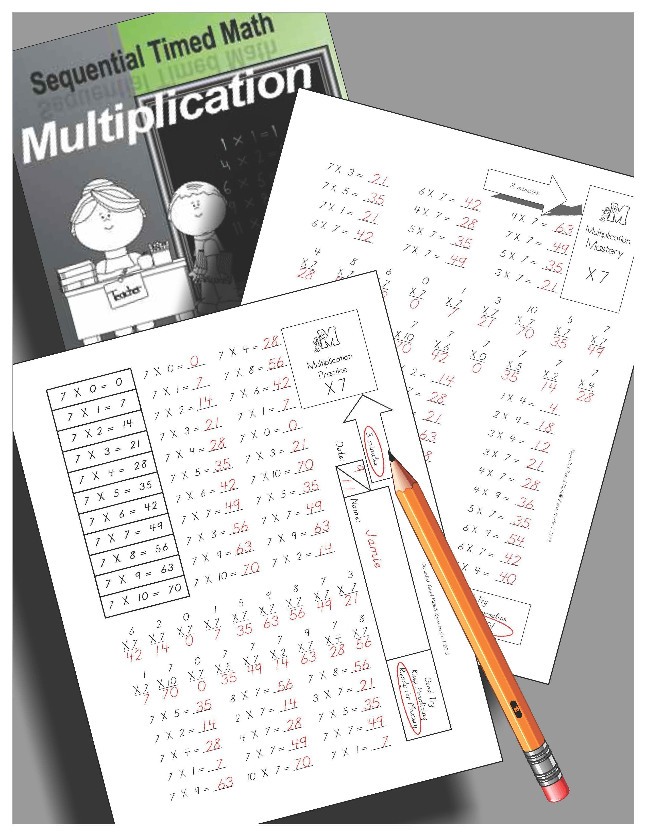 Sequential Timed Math Multiplication Facts Fluency