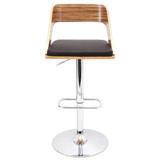 LumiSource Vino Zebra Bent Wood Barstool | Overstock.com Shopping - Great Deals on LumiSource Bar Stools