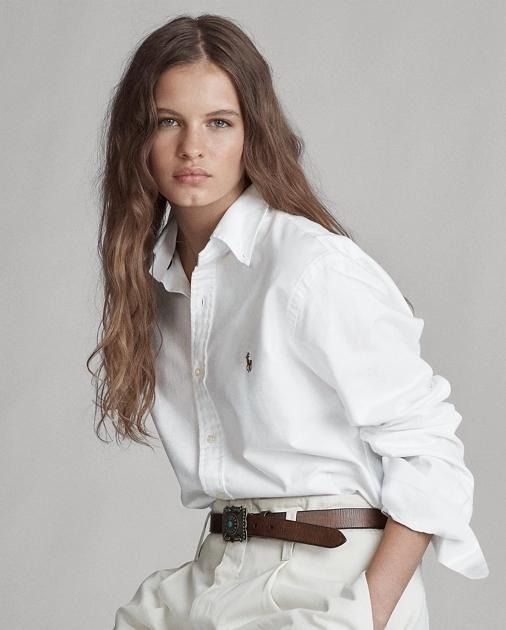 Custom Fit Cotton Oxford Shirt | Button Downs Shirts & Tops ...