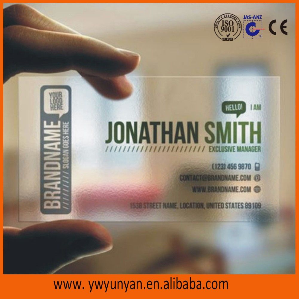Customized Printing Plastic Mirror Business Cards Factory - Buy ...