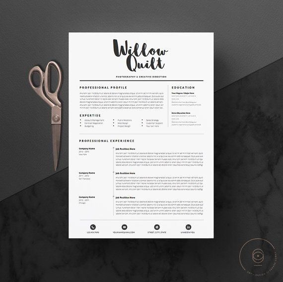 Page Resume Template  Cv Template Pack Cover By Oddbitsstudio