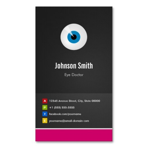 Eye care eye doctor optical creative innovative business card eye care eye doctor optical creative innovative business cards make your own business card with this great design all you need is to add your info to reheart Images