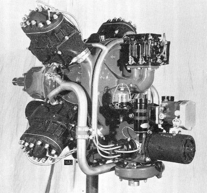 Types Of Motorcycle Engines: GM X8 2-stroke Engine. This Was An Experimental Engine For
