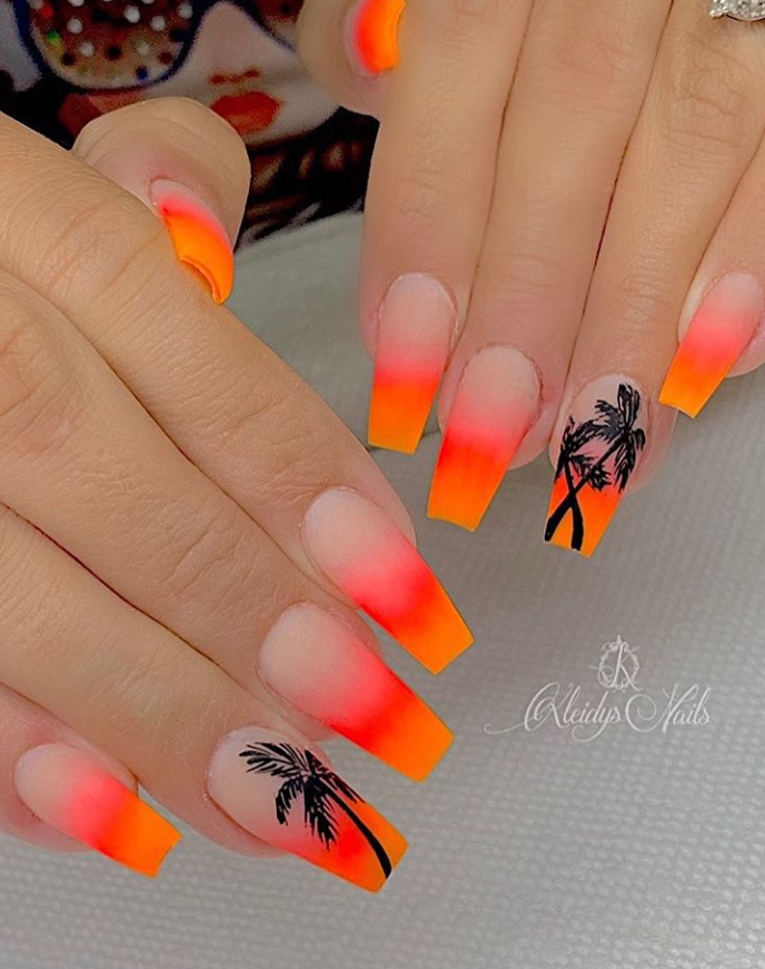56 Trendy Summer Acrylic Coffin Nails Design And Color Ideas Accentnail Trendyn In 2020 Coffin Nails Designs Summer Cute Acrylic Nail Designs Best Acrylic Nails
