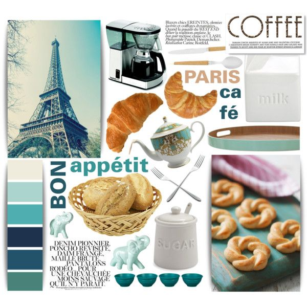 Bon Appétit: Paris Café by aquilavalenteapp on Polyvore featuring interior, interiors, interior design, home, home decor, interior decorating, BIA Cordon Bleu, Sur La Table, Fountain and INC International Concepts