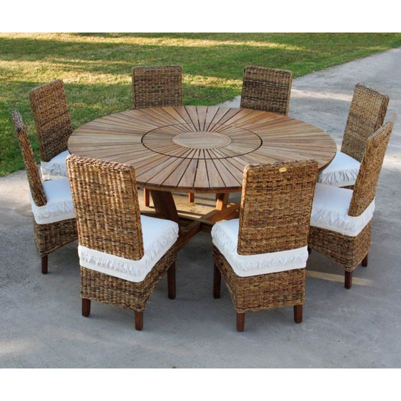 Teak Round Dining Table Real Table Table De Jardin