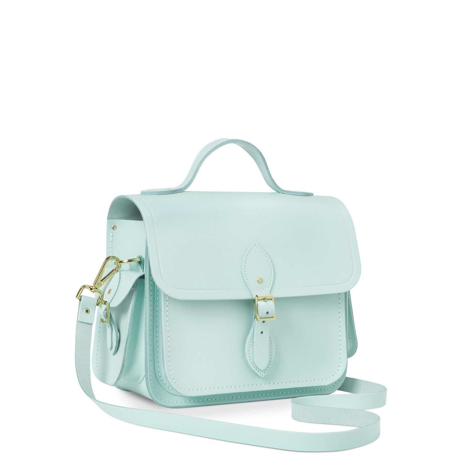 Sweet Pea Blue Large Traveller Bag With Side Pockets 225 Cambridge Satchel