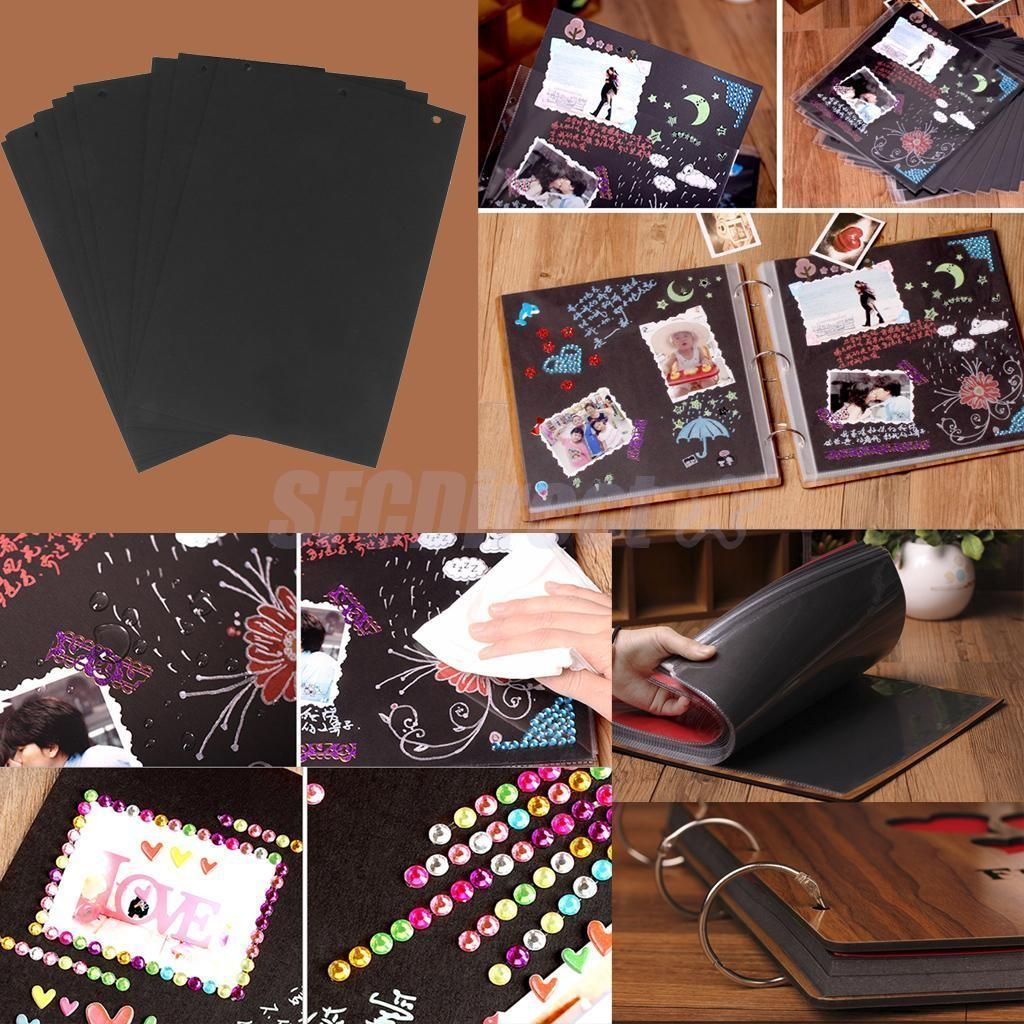 X scrapbook photo album hole page refill sheet for wedding craft