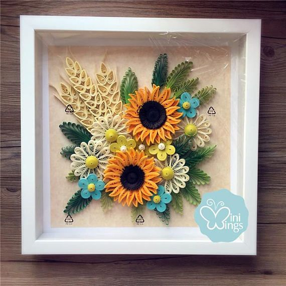 Miniwings paper art quilling wall modern home decoration also  rh in pinterest