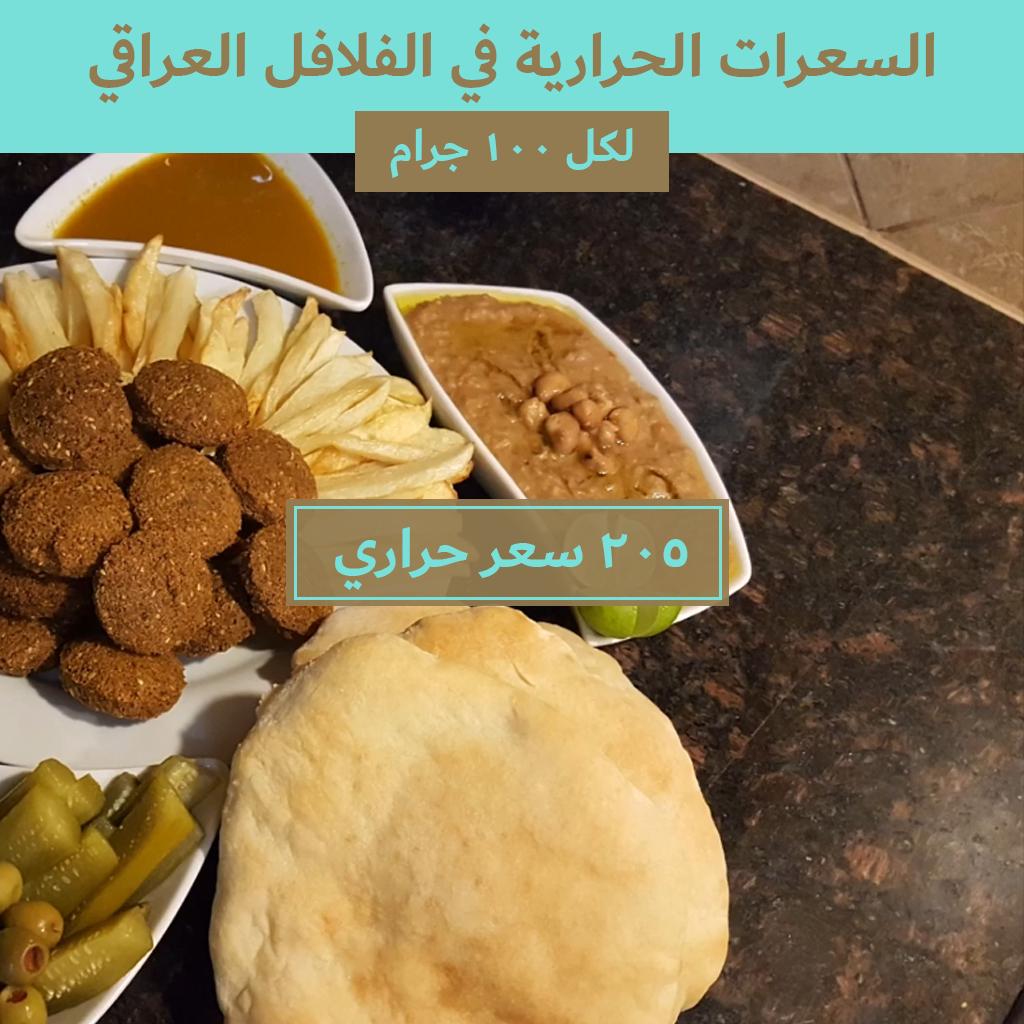 السعرات الحرارية في الفلافل العراقي Food Nutrition Calorie