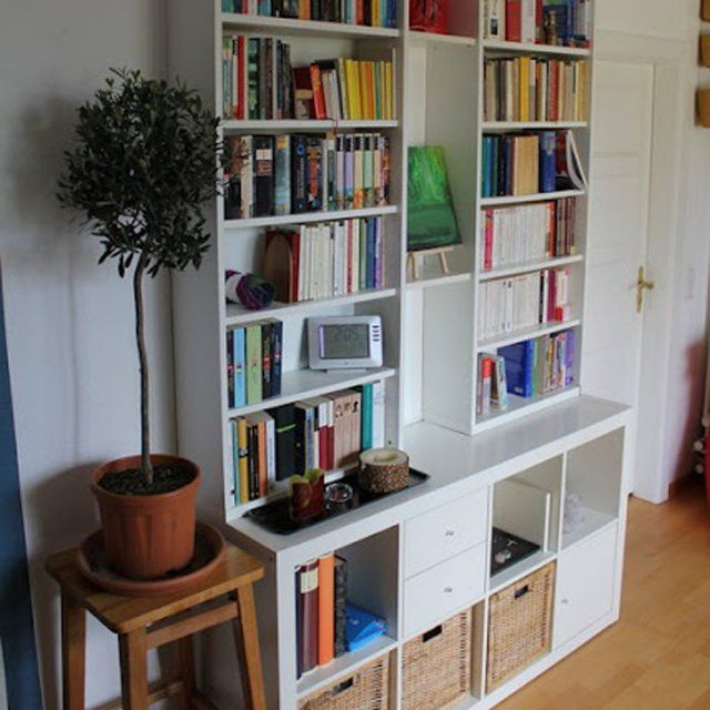 Ikea hacking customiser la biblioth que billy en 5 id es for Deco salon bibliotheque